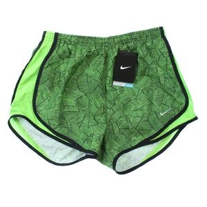 Nike Canopy Tempo Printed Running Gym Shorts Green